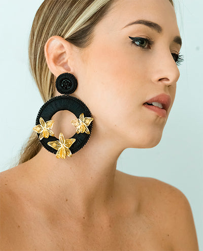 Magdalena Pendientes Negro - Boho Hunter Europe