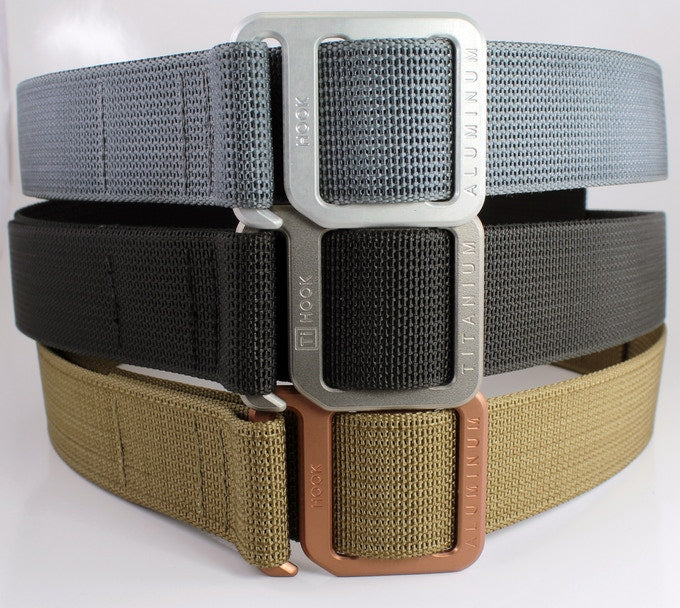 3 belts stacked