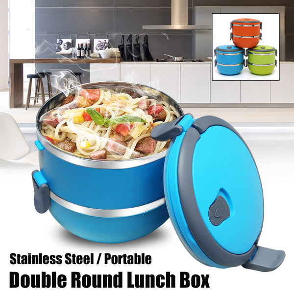 4 Tiered Bento Box Stainless Steel Portable Thermal Insulated Lunch Box Food Container