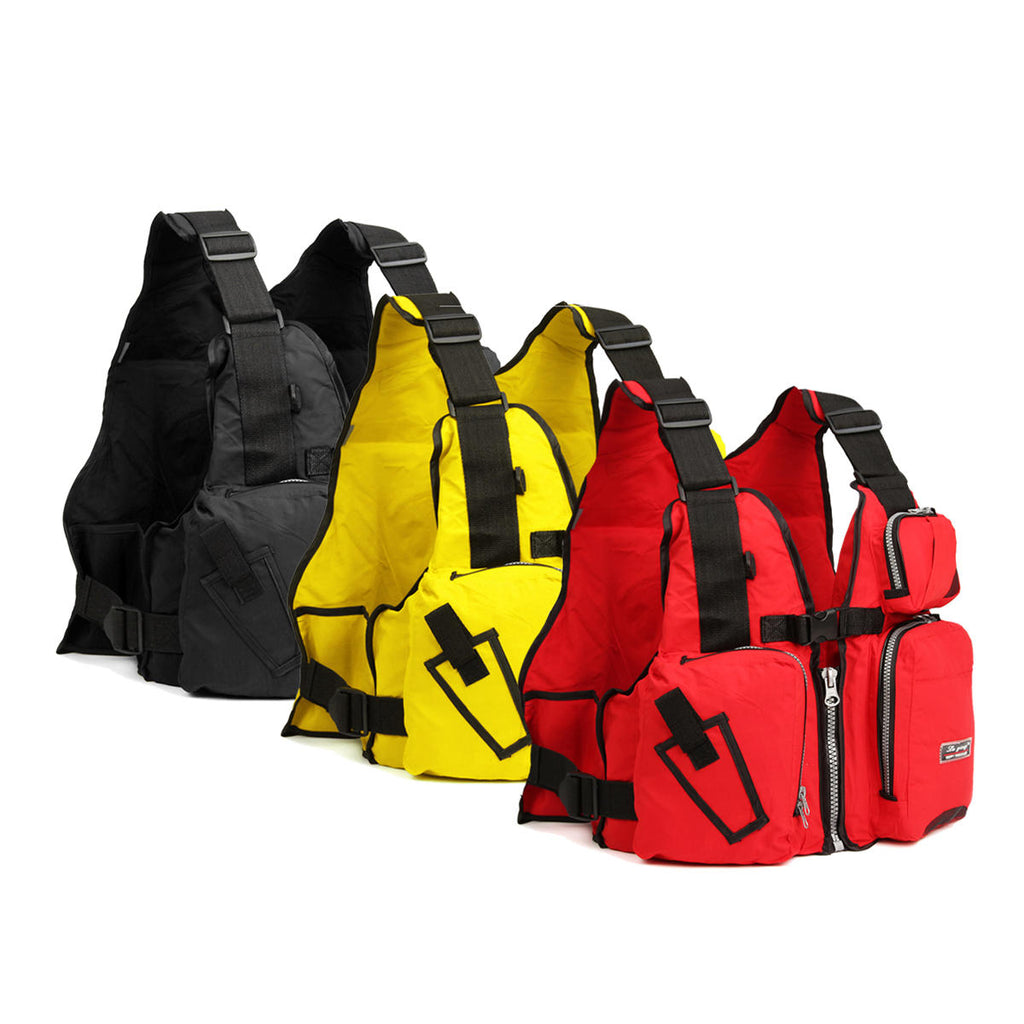 Fishing Vest Life Jacket Multifunctional Personal Flotation Device