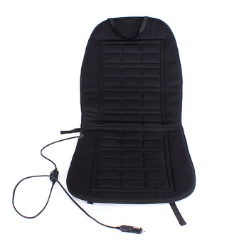 black seat cover with power cord