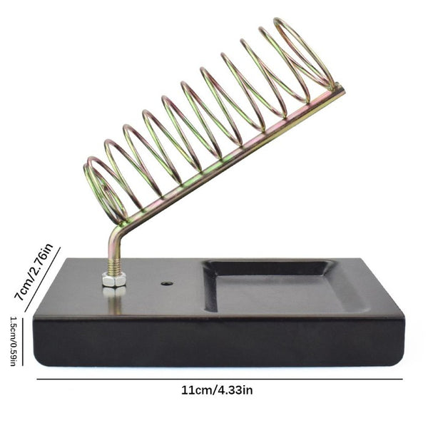 Image showing solder tool spring shaped holder installed on black plastic base.
