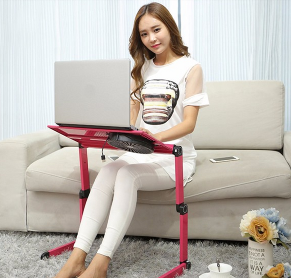 Laptop Notebook Tablet Desk Table Portable Adjustable Foldable PC Vented Stand Bed Tray