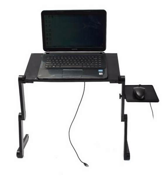 Folding Laptop Notebook Desk with Double Fans