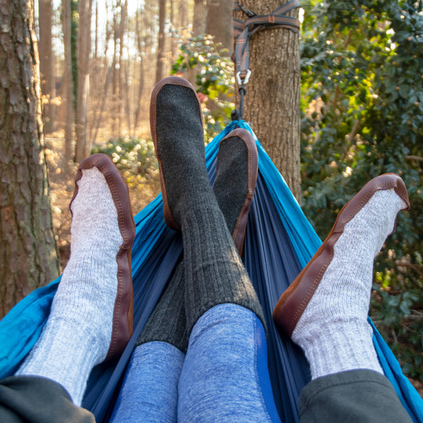 Slipper Socks in a Hammock