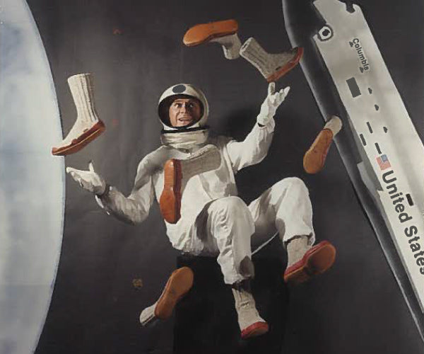 Acorn Slipper Socks with Astronaut Mannequin