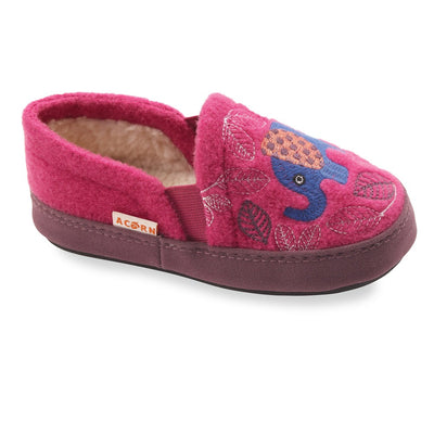 Kid's Colby Gore Moccasins in Magenta Elephant
