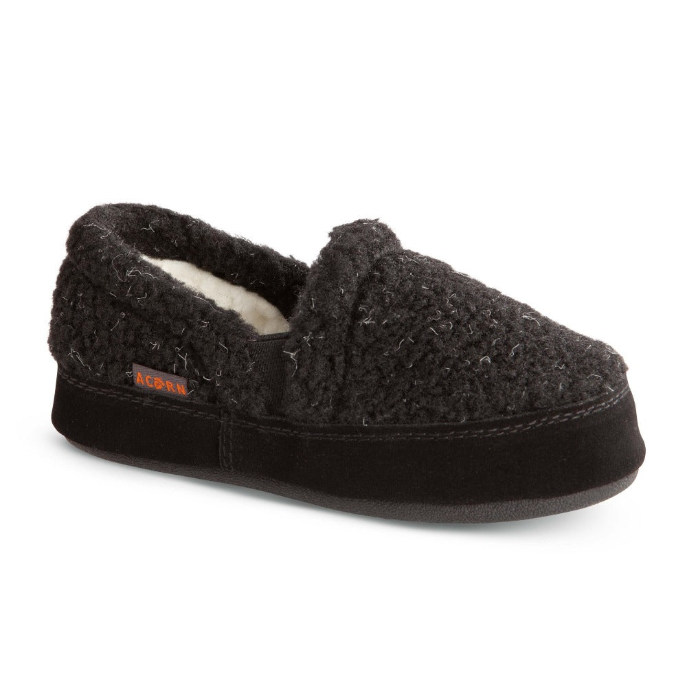 Kid's Colby Gore Moccasins in Black Berber