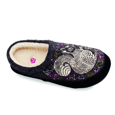Women's Forest Mule Slippers in Grey Squirrel Inside Top View