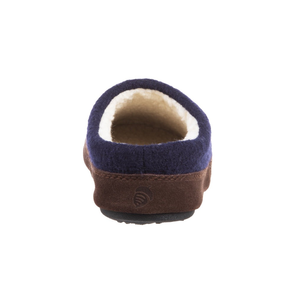 Women's Forest Mule Slippers in Navy Moose Back Heel