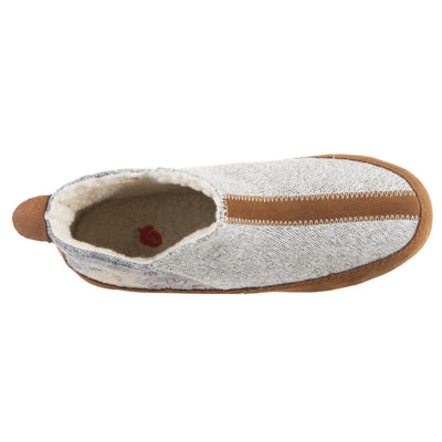 Women's Forest Bootie Slippers in Heather Grey Hare Inside Top View