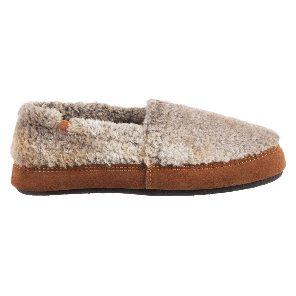 Brown Berber Acorn Moccassin Slipper Side Angle