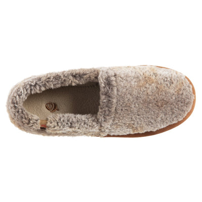 Acorn Moccassin Slipper Brown Berber Top Down View