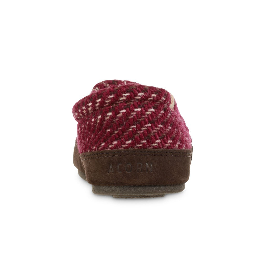 Women's Original Acorn Moccasins in Garnet Back Heel