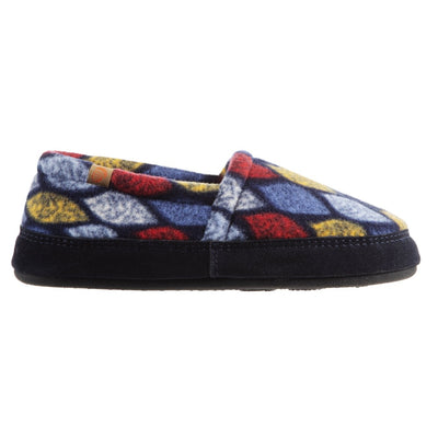 Women's Fleece Moc Slippers in Leaves Profile