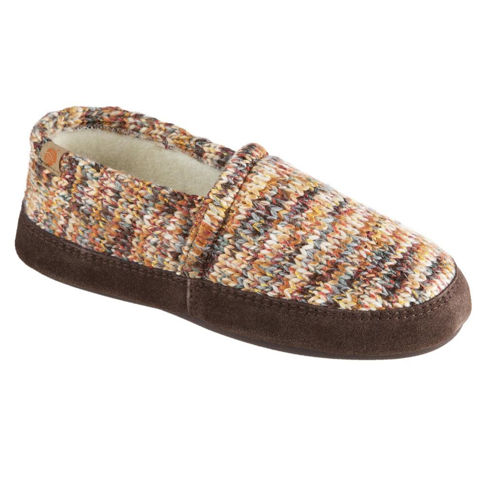 Women's Original Acorn Moccasins in Sunset Cable Knit Right Angled View