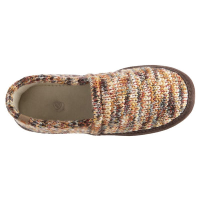 Women's Original Acorn Moccasins in Sunset Cable Knit Inside Top View