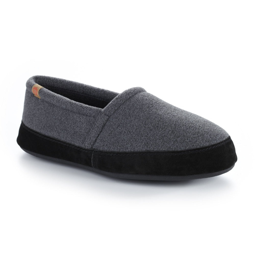 Men's Original Acorn Moccasins in Charcoal Right Angled View