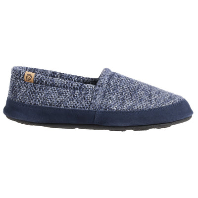 Men's Original Acorn Moccasins in Navy Tweed Profile