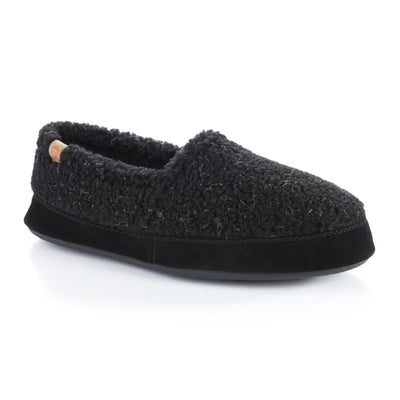 Men's Original Acorn Moccasins in Black Berber Right Angled View