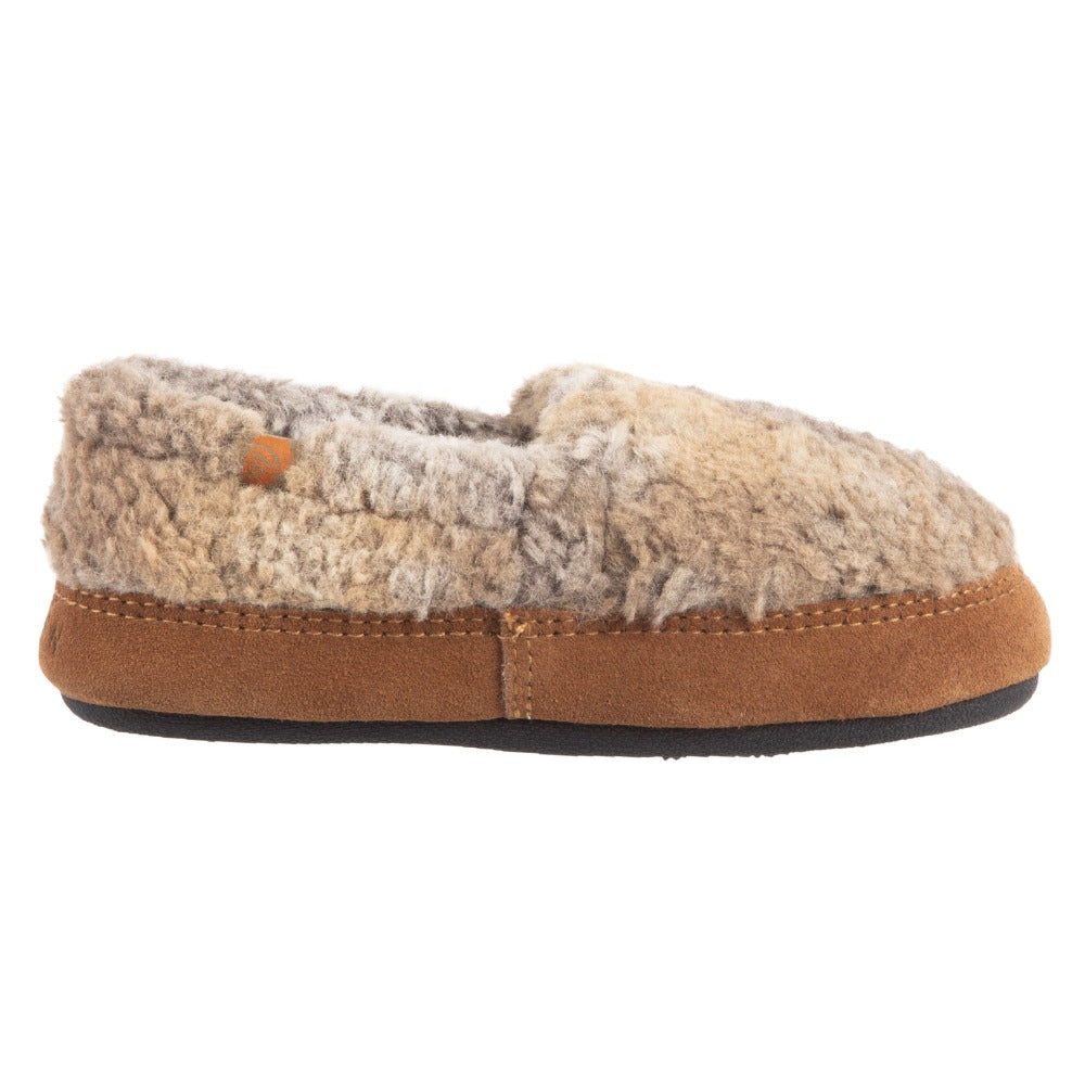 Kid's Original Acorn Moccasins in Brown Berber Profile