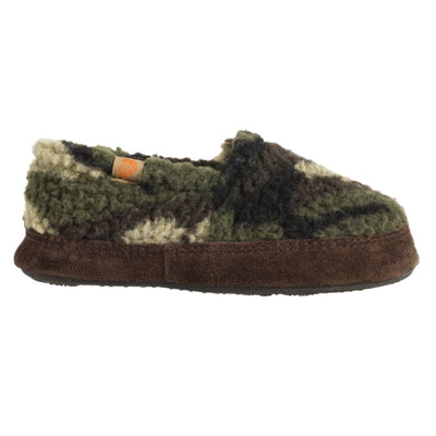 Kid's Original Acorn Moccasins in Camouflage Profile