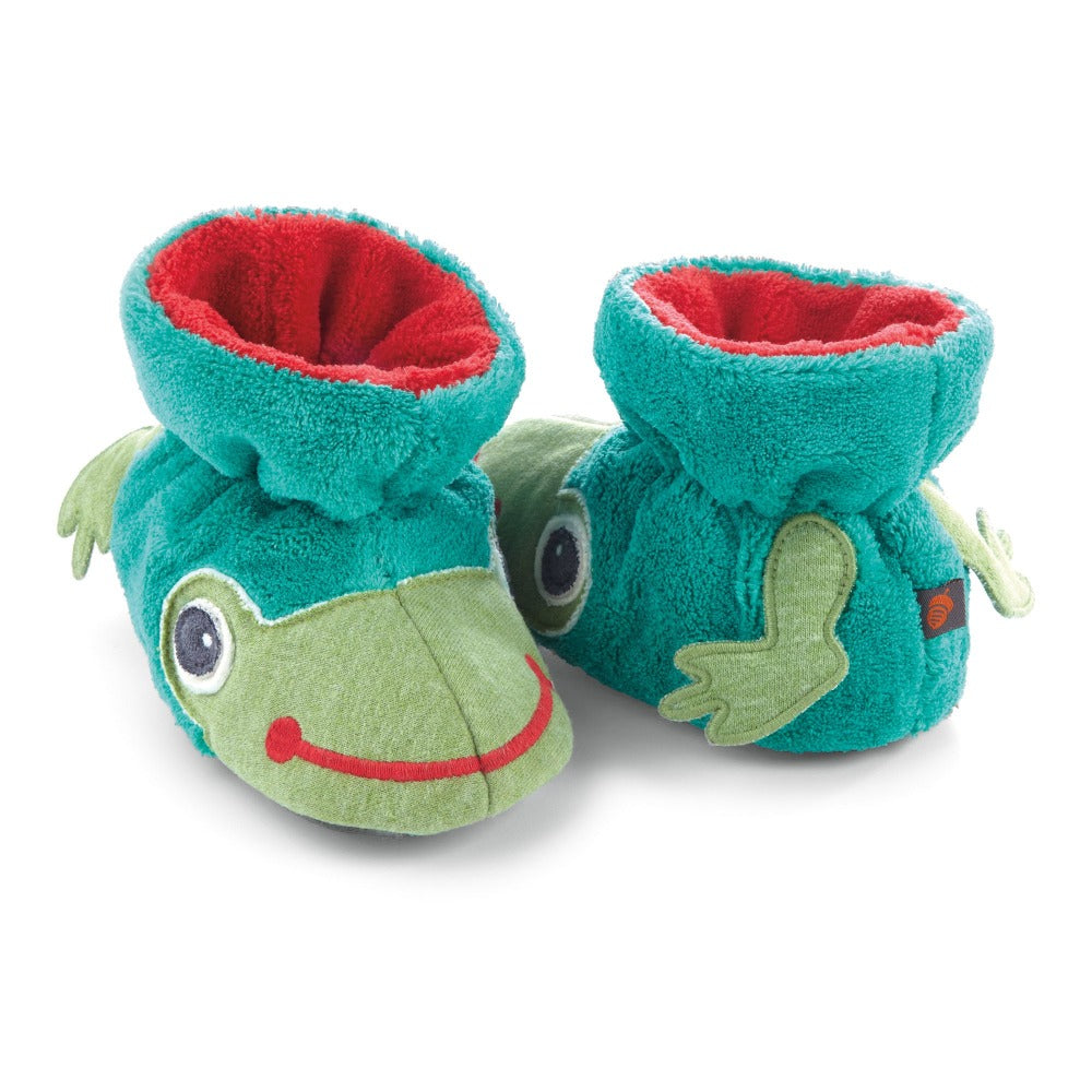 Toddler's Critter Booties in Frog