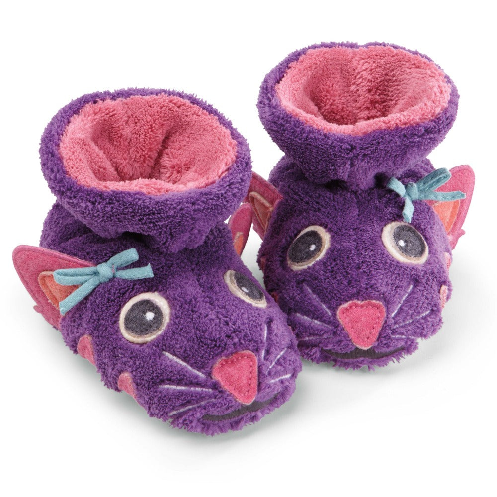 Toddler's Critter Booties Pair in Kitty