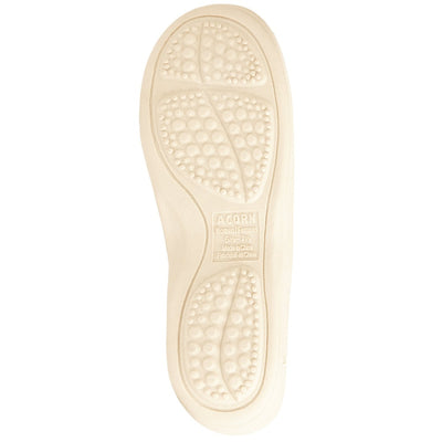 Women's Spa Moc Slippers in Natural Bottom Sole Tread
