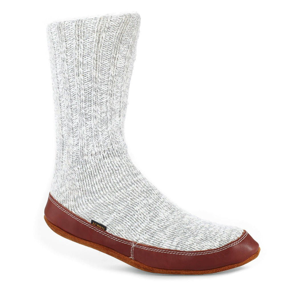 The Original Slipper Sock in Light Gray Cotton Twist Side View