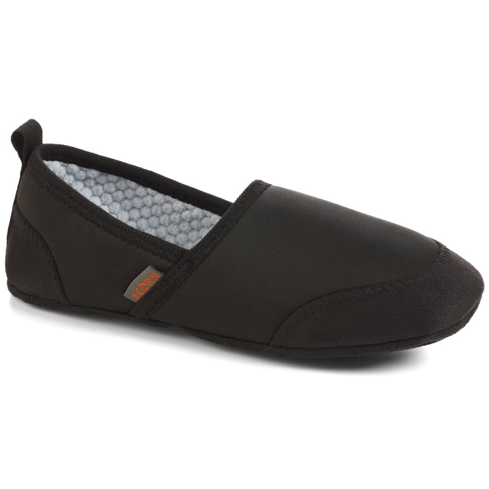 Women's Packable Travel Moc Slippers in Black