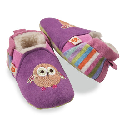 Toddler's Easy-On Animal Slippers in Green Squirrel Pair