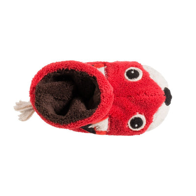 Toddler's Critter Booties in Red Fox Inside Top View