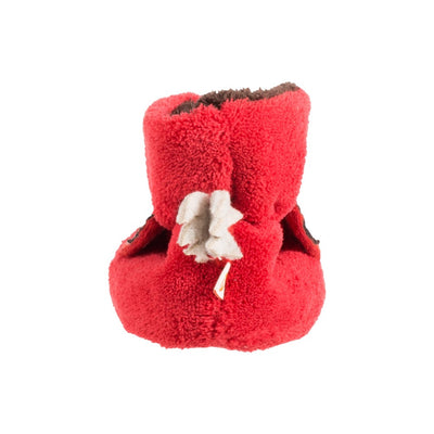 Toddler's Critter Booties in Red Fox Back Heal