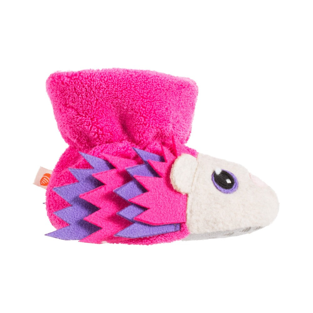 Toddler's Critter Booties Very Berry Hedgehog in Profile