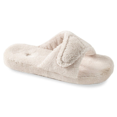 Women's Spa Slide Slippers in Natural Right Angled View