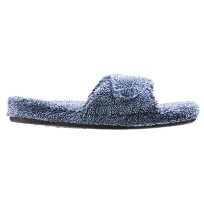Women's Spa Slide Slippers in Navy Heather Profile