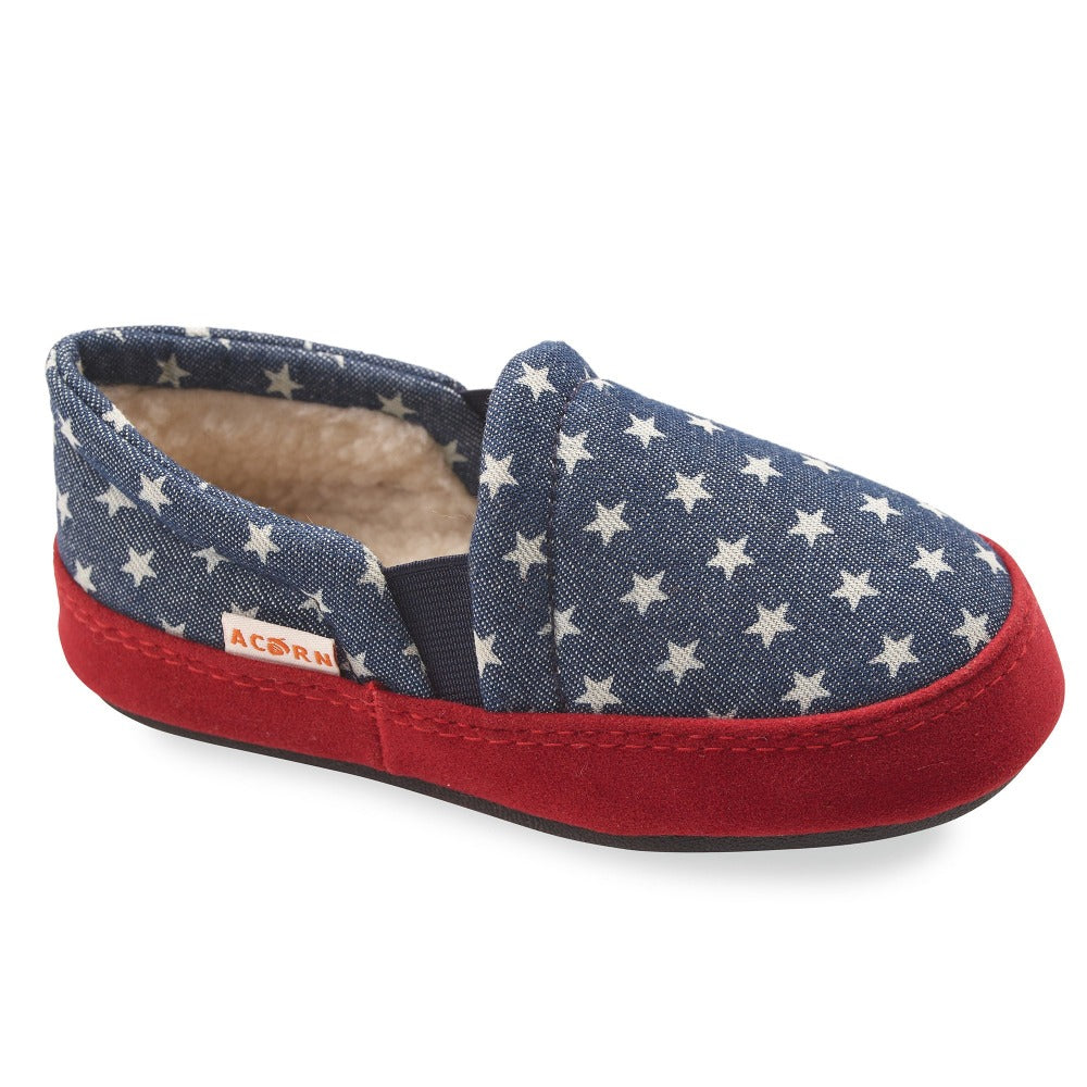 Kid's Colby Gore Moccasins in Navy Stars