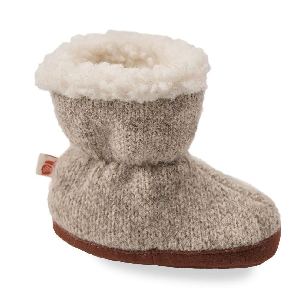 Toddler's Ragg Wool Booties in Grey Ragg Wool Profile