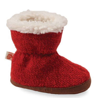 Toddler's Ragg Wool Booties in Red Ragg Wool Profile