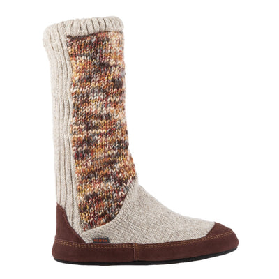 Women's Slouch Boots in Sunset Cable Knit Side View