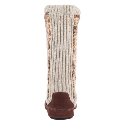 Women's Slouch Boots in Sunset Cable Knit Back Heel