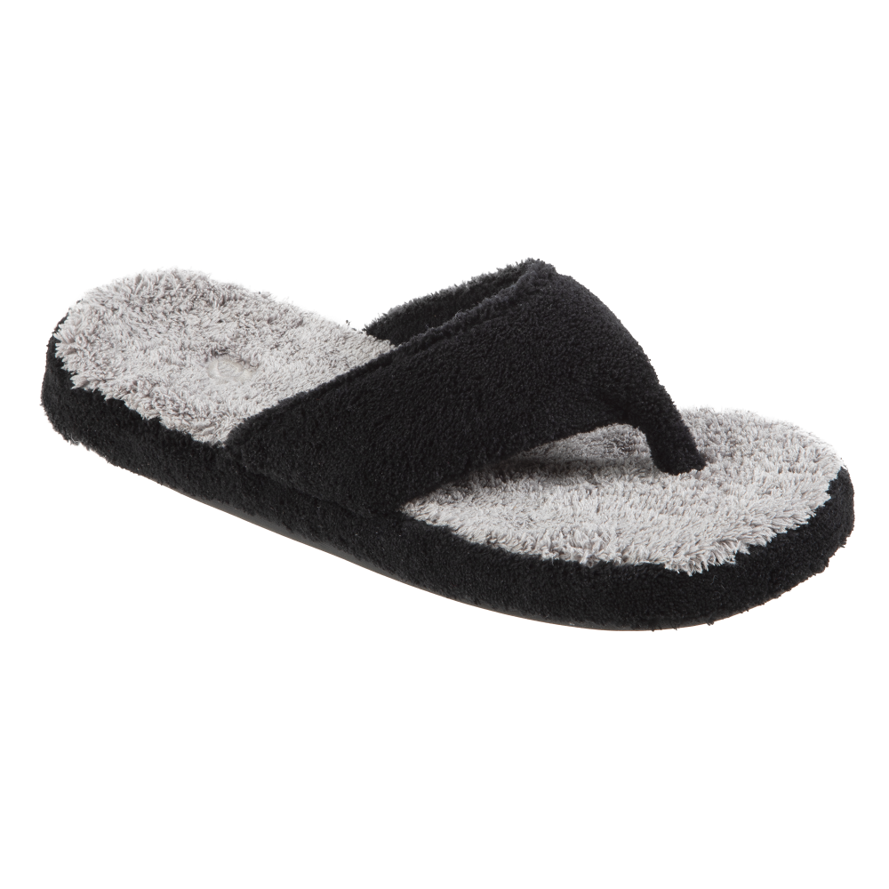 Women's Spa Thong Slippers in Barley Right Angled View