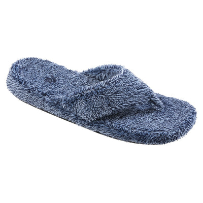 Women's Spa Thong Slippers in Navy Heather Side View