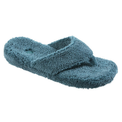 Women's Spa Thong Slippers in Peacock Side View