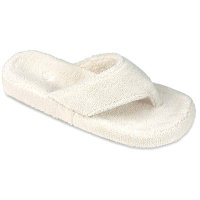 Women's Spa Thong Slippers in Natural Right Angled View