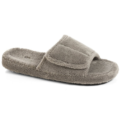 Men's Spa Slide Slippers in Gray Right Angled View