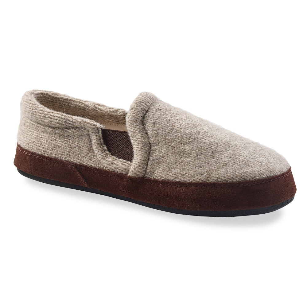 Grey Ragg Wool Acorn Slipper