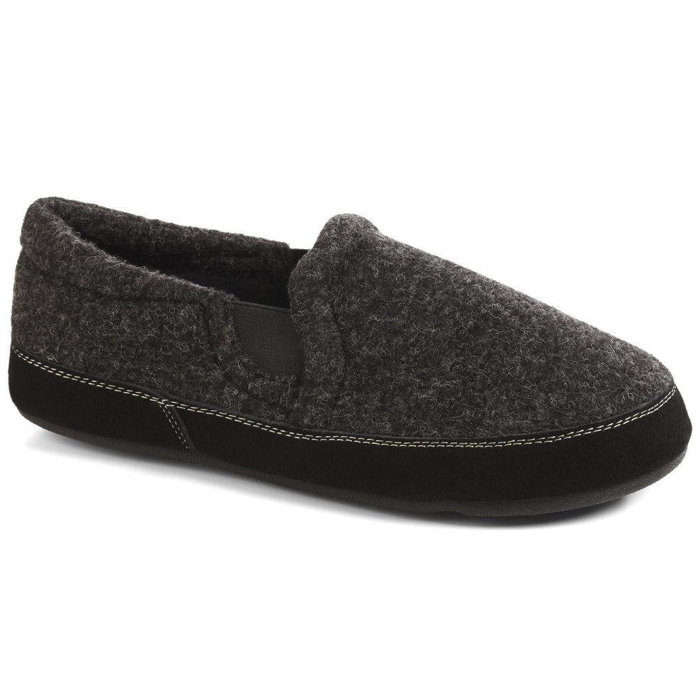 Black Tweed Acorn Slipper