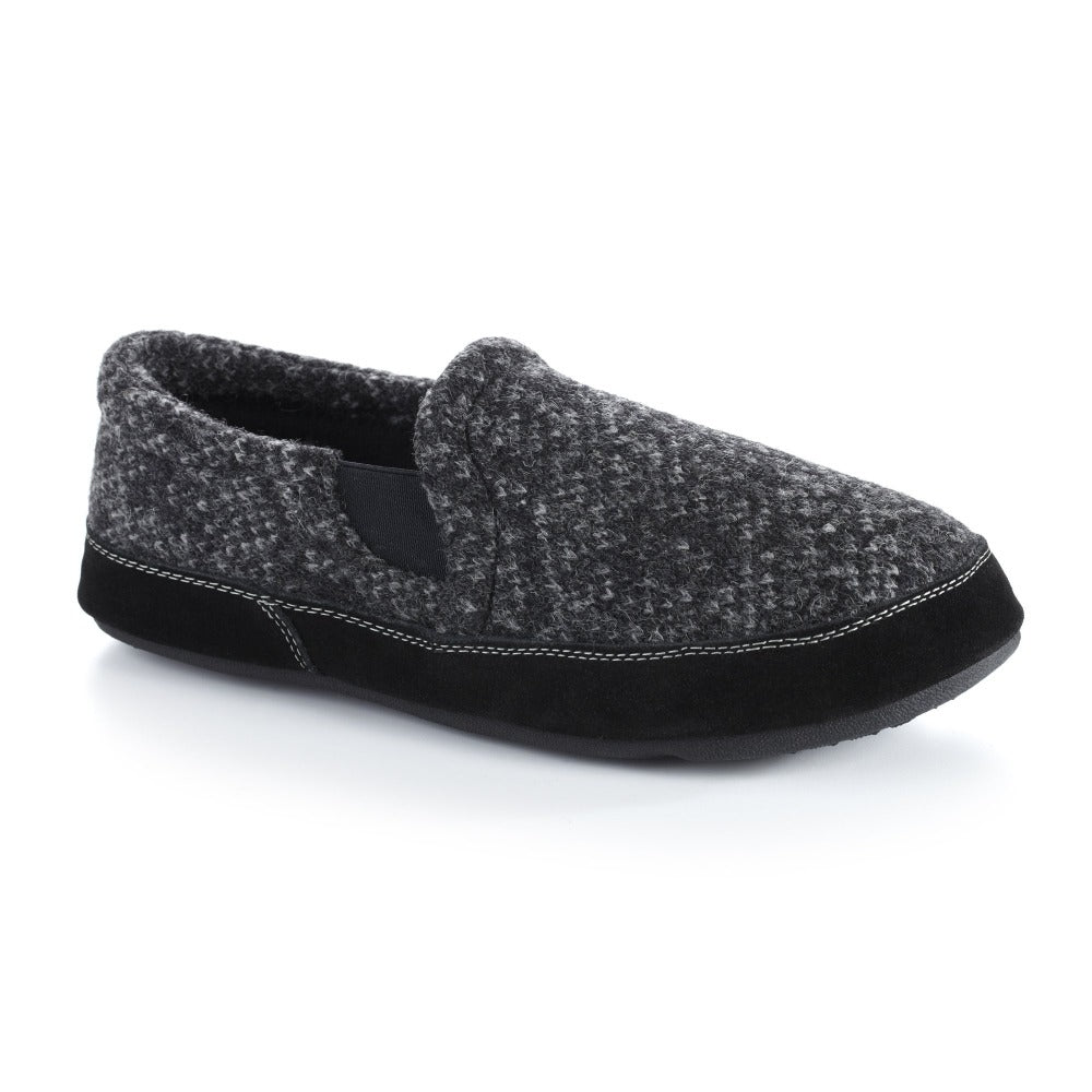 Charcoal Tweed Acorn Slipper